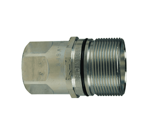 "W8F8 Dixon Steel W-Series Quick Disconnect 1"" Wingstyle Interchange Hydraulic Nipple - 1""-11-1/2 Female NPTF"
