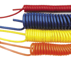 "X460_-B Nycoil Supercoil® Polyurethane Self-Storing Air Hose - Bulk - 1/4"" ID x 3/8"" OD - 147 PSI - 60ft"
