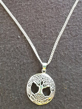 Orgone Ionic Tree of Life Sterling Silver Pendant & Chain