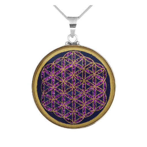 Flower of Life Lapis Pendant