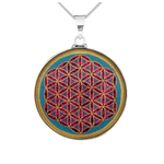 Flower of Life Turquoise Pendant
