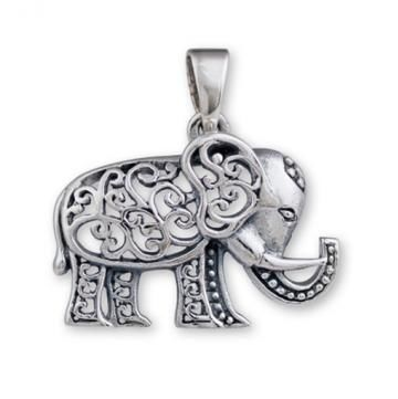 Orgone Ionic Elephant Sterling Silver Pendant & Chain