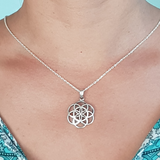 Sterling Silver Seed of Life Ionic Orgone Pendant & Chain