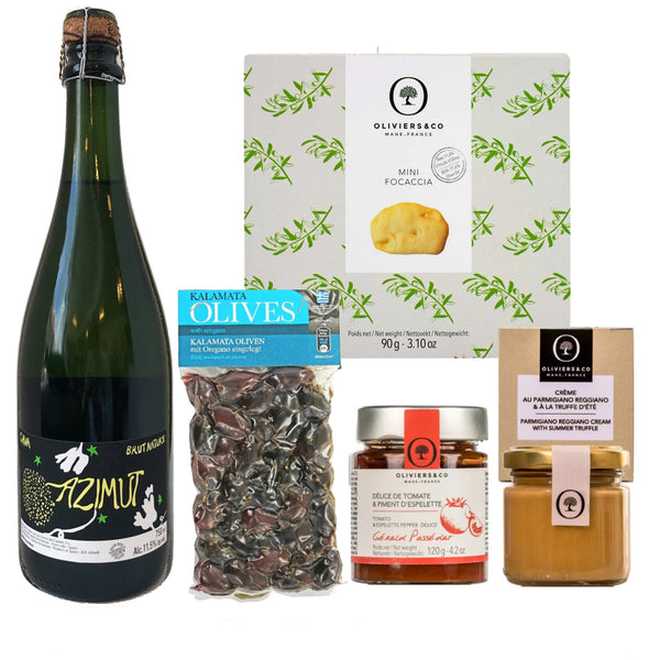 Gourmet kit med cava og snacks