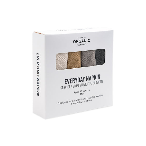 Stofservietter Everyday Napkin 4 pack Mix fra The Organic Company, Oliviers & Co