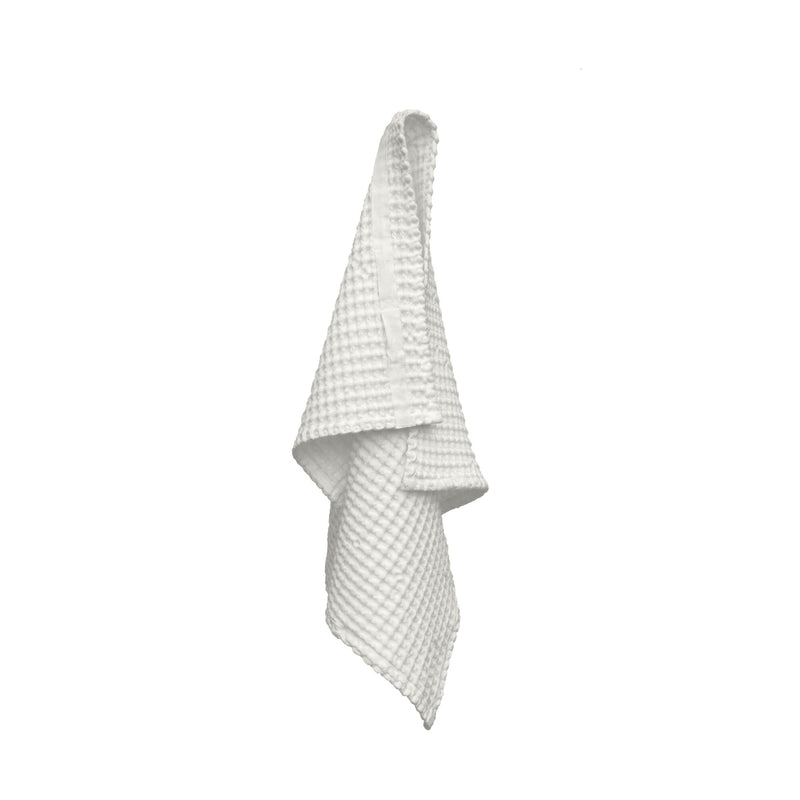 Viskestykke – Big Waffle Hand Towel fra The Organic Company i farven Natural White