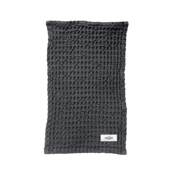 Big Waffle Kitchen and Wash Cloth fra The Organic Company Dark Grey hos Oliviers & Co