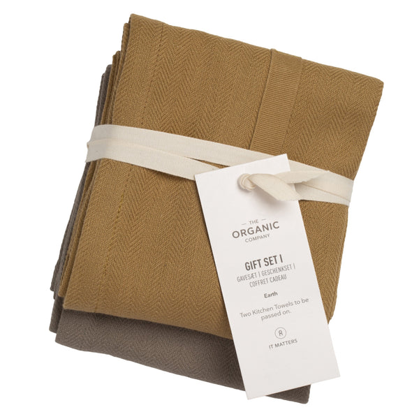 Økologiske tekstiler fra The Organic Company, Gift Set I Earth hos Oliviers & Co