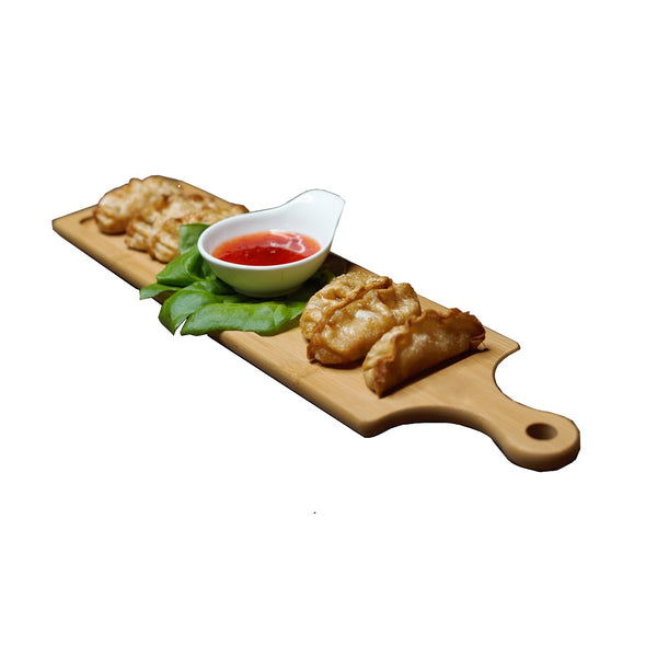 "SET OF 3  LONG SERVING BOARDS WITH HANDLE 19.7"" X 5.9"" 