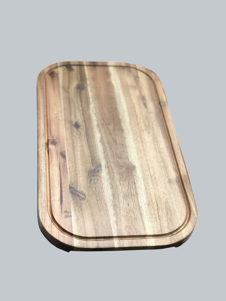 "Acacia Serving Rounded cutting board 18"" X 10"""