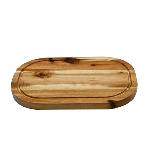 "Acacia Serving Rounded cutting board 12"" X 8"""