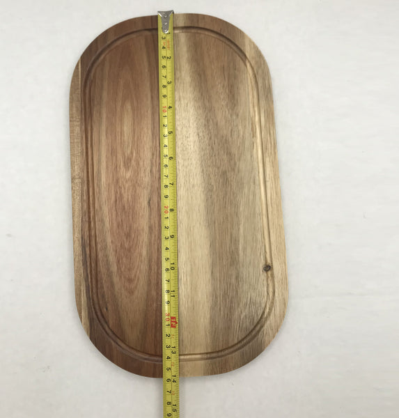 "Acacia Serving Rounded cutting board 14"" X 8"""
