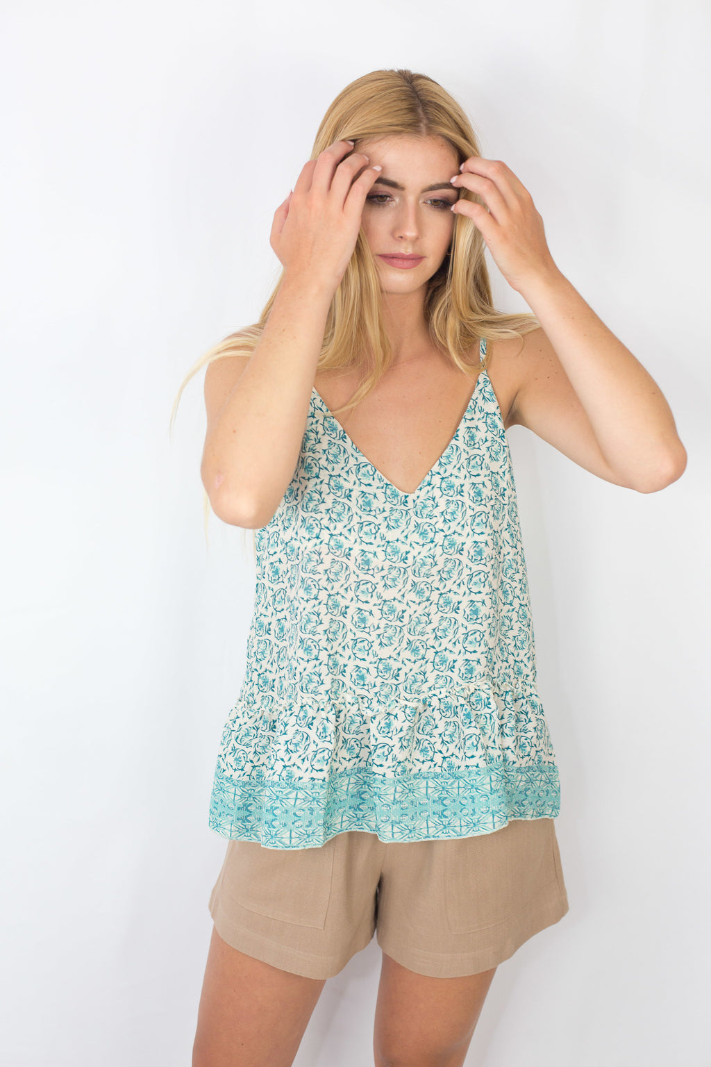 Top fluido estampado (verde)
