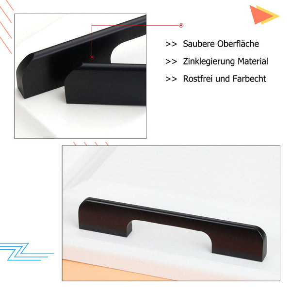 black square arch drawer pulls