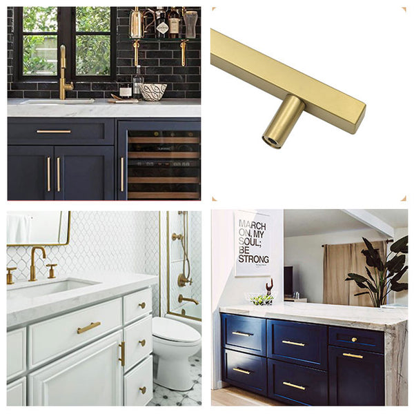 brushed brass cabinet hardware for kitchen