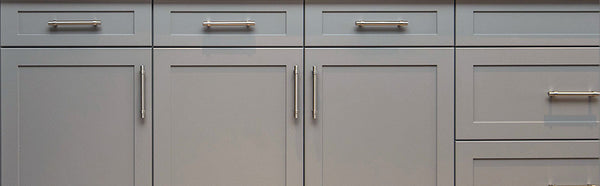 kitchen hardware handles brushed nickel