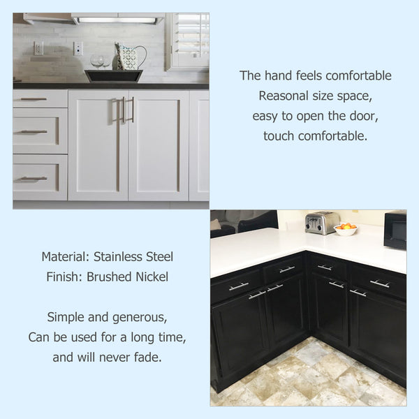 BRUSHED STAINLESS STEEL KITCHEN CABINET HARDWARE