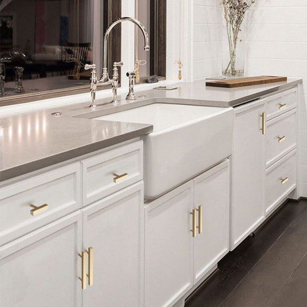 Update your kitchen cabinets with gold hardware - Goldenwarm