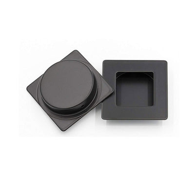 Recessed Handle Black Square Flush Pull 2.8 inch / 70mm (MC009-70BK)