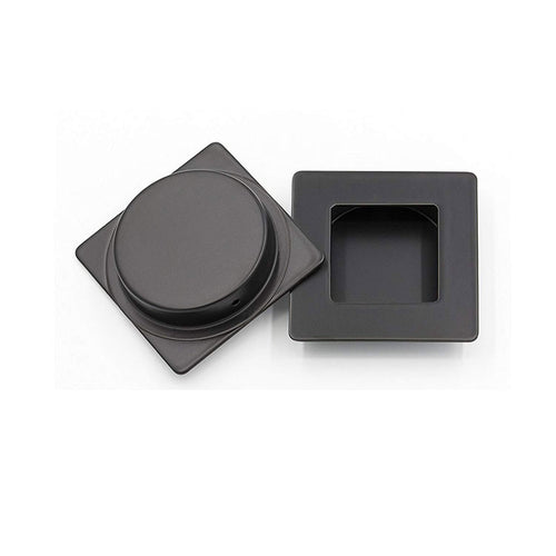 Recessed Handle Black Square Flush Pull 2.8 inch / 70mm (MC009-70BK) - Goldenwarm