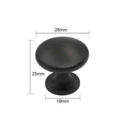 black round kitchen cabinet pulls and knobs(10 pack), 6050BK - Goldenwarm