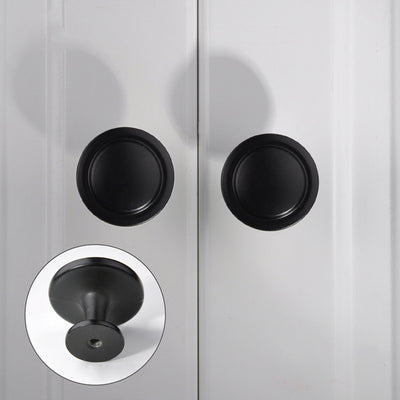 dresser knobs with small hole in black finish(0320BK)