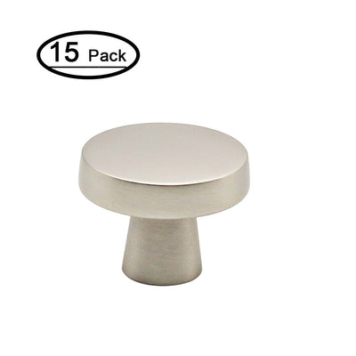 15 pack round drawer knobs silver brushed nickel 1.27inch ( LS5310SNB)