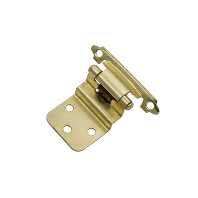 Gold inset cabinet hinges for kitchen cabinets (10 pairs ),SCH38BB - Goldenwarm