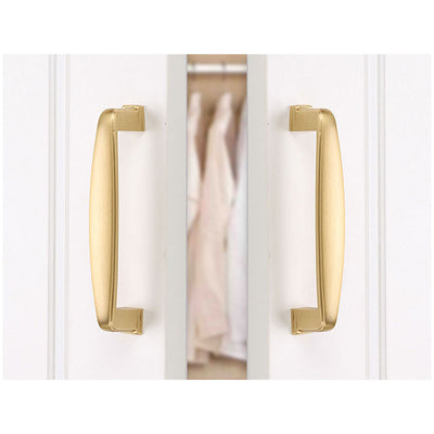 3in Arch Drawer Pulls Solid Brushed Brass finish