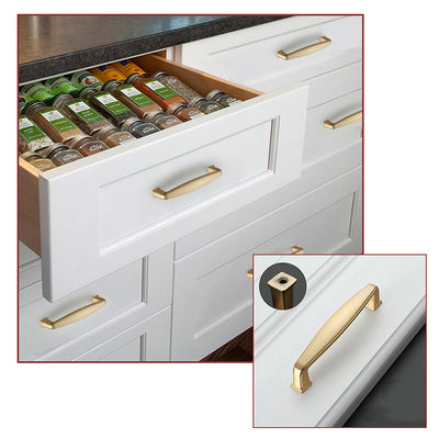 20 pack Brushed Brass Drawer Pulls Solid for Kitchen, LS8791GD