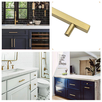 3-3/4inch center to center gold hardware pulls in brushed brass finish (LS1212GD)