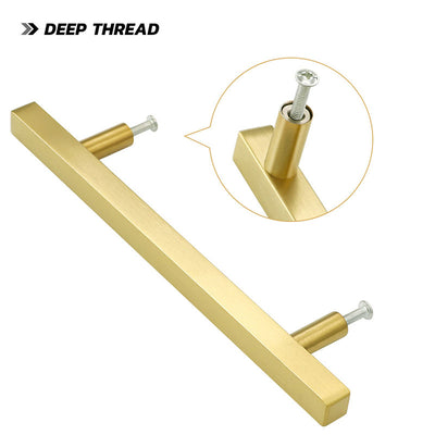 5in(128mm) brushed brass cabinet hardware for kitchen, LS1212GD