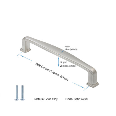 LS8791SNB Modern Cabinet Handles 5 inch(128mm) for Kitchen Cabinet