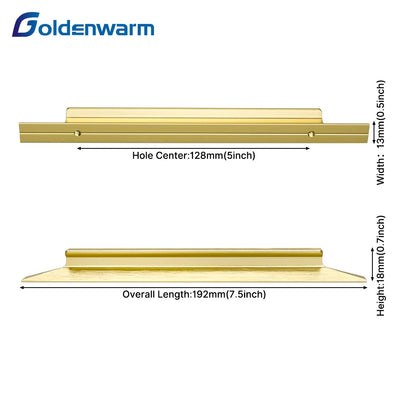 5 in Gold Cabinet Pull Kitchen Drawer Handle(LS7024GD)