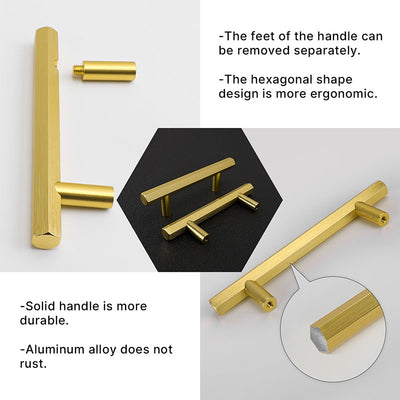 Gold Solid Drawer Pulls and Knobs