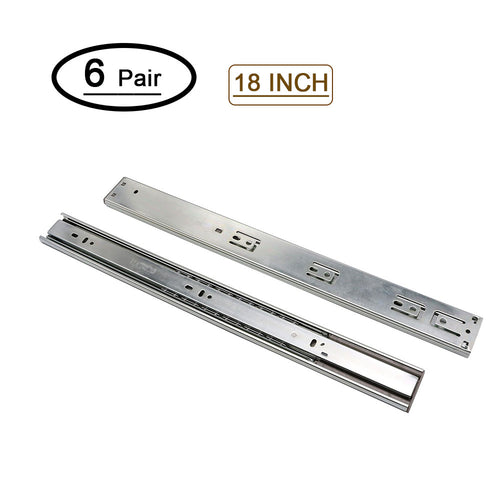 cabinet and drawer slides 18 inch with soft-close full extension (6 pair )