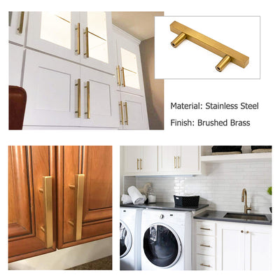 3.5 Inch kitchen cabinet gold hardware brushed brass finish, LS1212GD