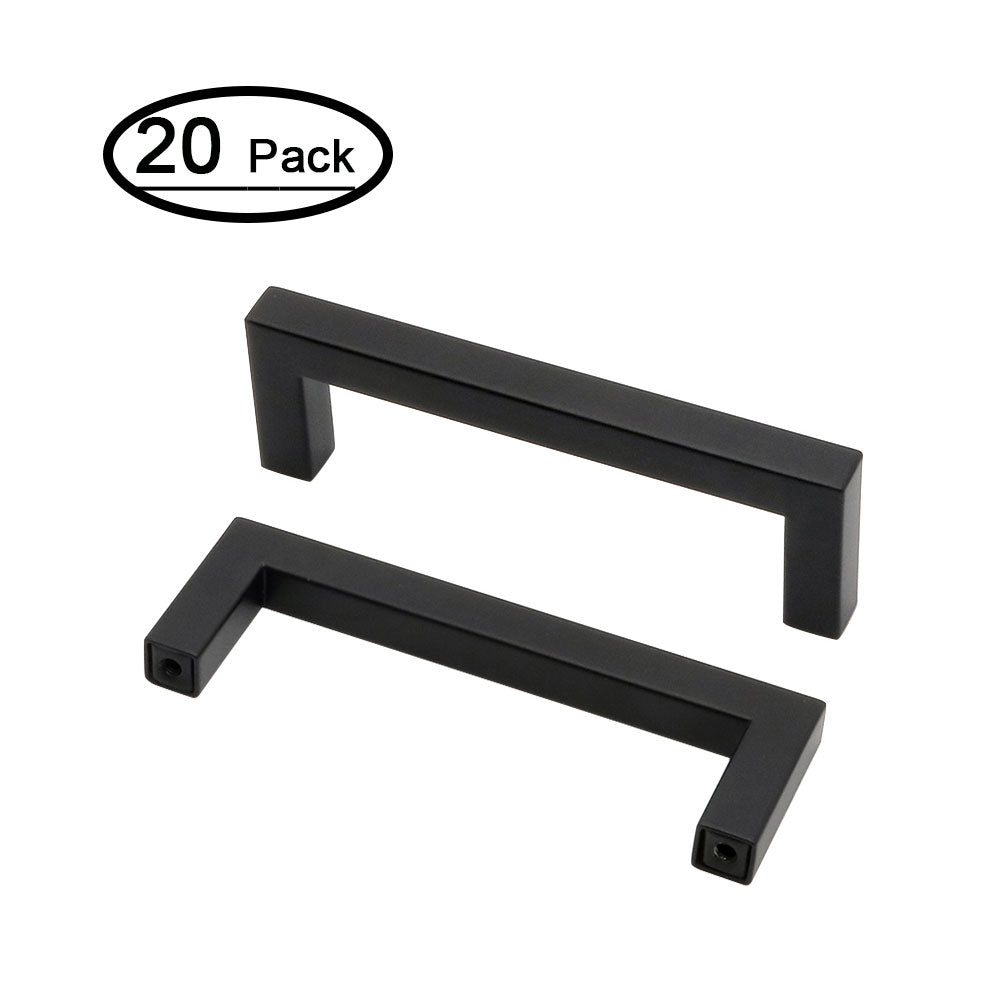 kitchen cabinet hardware black with stainless steel(20 pack), J10Bk - Goldenwarm