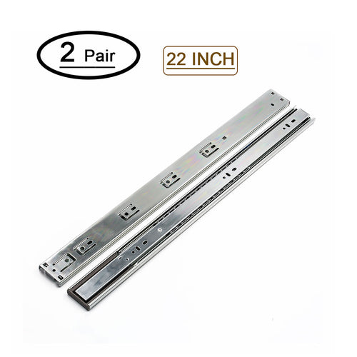 22in drawer slides heavy duty, soft-close, for drawer or cabinets - Goldenwarm