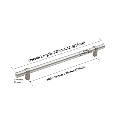 10 inch round cabinet pulls for kitchen, brushed nickel(LST16BSS)