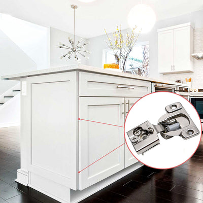 5 pack satin nickel Kitchen Cabinet Hinges with damper