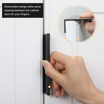 5 Pack Black Aluminum Kitchen Cabinets Drawers Finger Edge Pull Tab Handle(LS7030BK)
