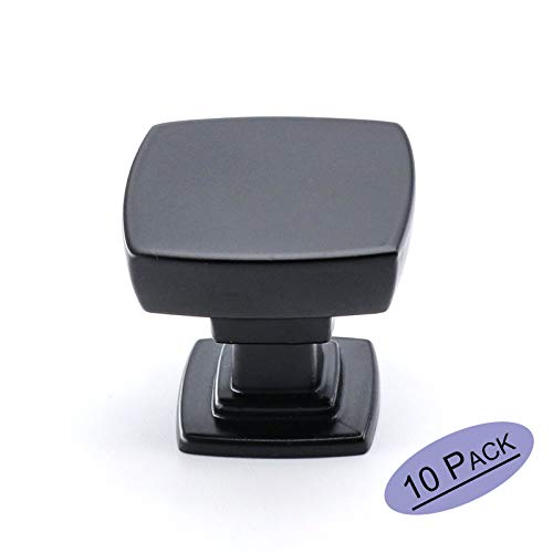 10 Pack - goldenwarm Black Cabinet Knobs Drawer Handles - LS9016BK Black Drawer Knobs Pulls Cabinet Handle for Kitchen Cupboard Wardrobe