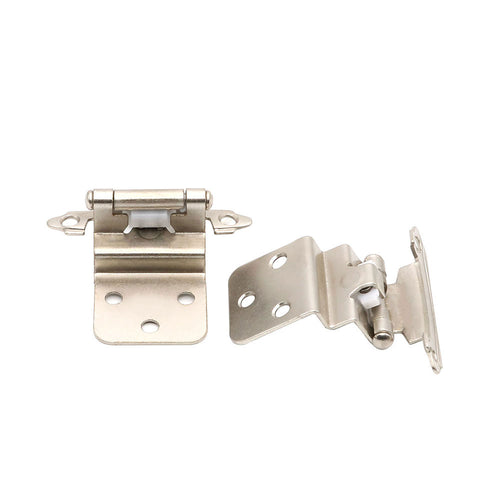 10 pairs Face Mount Decorative Inset Cabinet Hinges,3/8''(38SNB) - Goldenwarm