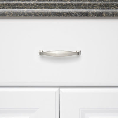 3.75inch(96mm) hole center Arch Cabinet Pulls Brushed Nickel(LS8791SNB) - Goldenwarm