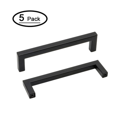 black matte hardware (5 pack) for kitchen cabinet, J10Bk