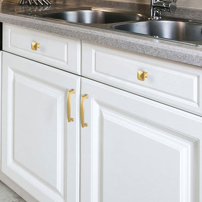 30 pack brushed gold kitchen knobs square, 1.2inch width ...