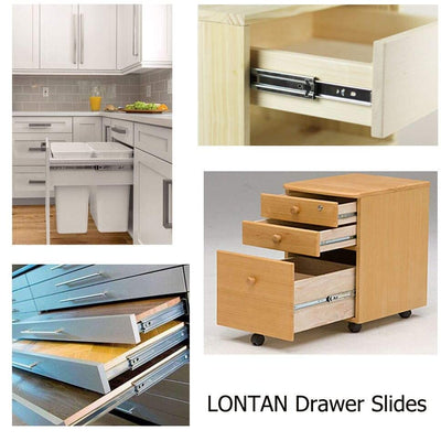 1 Pair Soft Close Metal Drawer Slides 16 Inch Full Extension