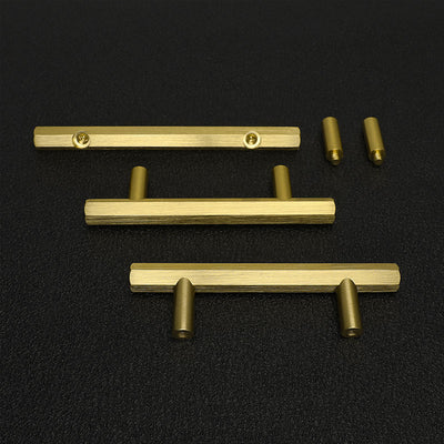 30 Pack Gold Solid Kitchen Cabinet Hardware Drawer Pulls And Knobs(LS7058GD) - Goldenwarm