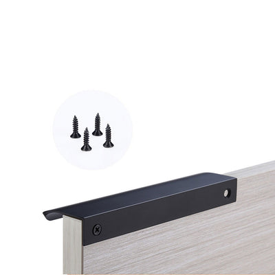 Cabinet Finger Pull 5 inch Hole Center In Black Finish